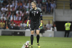 August 31, 2017 - Porto, Porto, Portugal - Gunnar Nielsen goalkeeper of Ilhas Faroe during the FIFA World Cup Russia 2018 qualifier match between Portugal and Faroe Islands at Bessa Sec XXI Stadium on August 31, 2017 in Porto, Portugal. (Credit Image: © Dpi/NurPhoto via ZUMA Press)