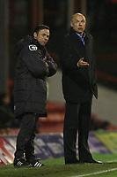 Football - League One - Brentford vs. Oldham<br /> Brentford manager, Uwe Rosler (right) and Oldham manager, Paul Dickov (left)