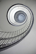 looking up a circular staircase