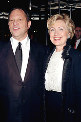Producer Harvey Weinstein and Senator Hillary Rodham Clinton (D - NY) pose as they arrive at the ïFinding Neverland' premiere, held at the Brooklyn Museum in New York, on Monday, October 25, 2004. Photo by Nicolas Khayat/ABACA.    67789_04