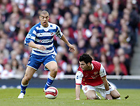 Photo: Olly Greenwood.<br />Arsenal v Reading. The Barclays Premiership. 03/03/2007. Reading's Glen Little goes past Arsenal's Cesc Fabregas