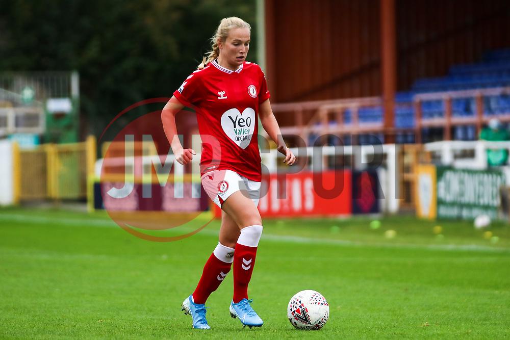 Jemma Purfield of Bristol City Women dribbles with the ball- Mandatory by-line: Will Cooper/JMP - 18/10/2020 - FOOTBALL - Twerton Park - Bath, England - Bristol City Women v Birmingham City Women - Barclays FA Women's Super League