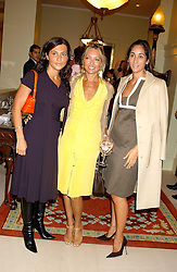 Left to right, ELLA KRASNER, RENEE TAUBI and ESTEFANIA RENAUD at the CLIC Sargent's Yumy Mummy lunch held at The Lanesborough Hotel, Hyde Park Corner, London on 20th September 2005.<br /><br />NON EXCLUSIVE - WORLD RIGHTS