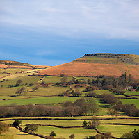 Europe, United Kingdom, Wales, Crickhowell. Crug Hywel (Table Mountain), an iron age hill fort of the Black Mountains.
