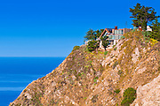 Cliff house on the Big Sur coast, California