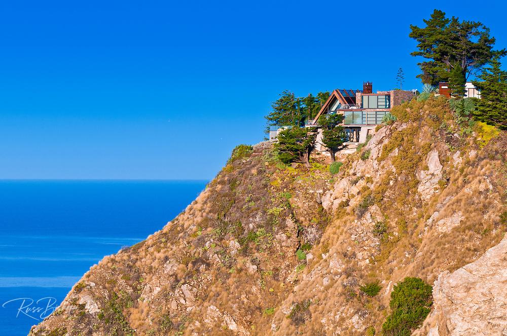 Cliff house on the Big Sur coast, California