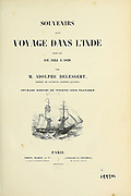 Title page of Souvenirs d'un voyage dans l'Inde exécuté de 1834 à 1839 (A voyage to India) by Delessert, Adolphe, published in Paris in 1843