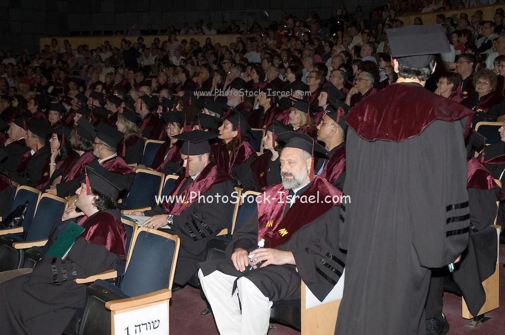 Israel, Haifa, The alumni and faculty members of the Haifa university during the graduation ceremony. May 2007