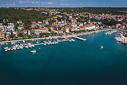 THEMENBILD - Übersicht des Hafens, aufgenommen am 15. August 2019 in Malinska, Kroatien // General view of the port in Malinska, Croatia on 2019/08/15. EXPA Pictures © 2019, PhotoCredit: EXPA/ JFK