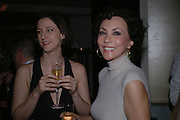 Maria Grachvogel and Marie Helvin. Launch of the Sunday Telegraph magazine 'Stella'. Momo, Berkeley St. London.   November 2005 . ONE TIME USE ONLY - DO NOT ARCHIVE © Copyright Photograph by Dafydd Jones 66 Stockwell Park Rd. London SW9 0DA Tel 020 7733 0108 www.dafjones.com