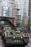 November 12th 2011 Lord Mayor's show. A tank in the procession passes through the City.