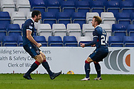 Roiss Draper celebrates his goal during the Scottish Premiership match between Ross County FC and St Johnstone FC at the Global Energy Stadium, Dingwall, Scotland on 2 January 2021