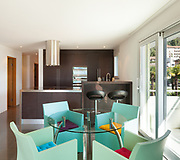 Architecture, beautiful apartment furnished, comfortable dining room