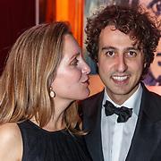 NLD/Amsterdam/20181206 - JFK Beste Geklede Man 2018, Jesse Klaver en poartner Jolein van Swaal
