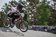 #353 (HAYAKAWA Yui) JPN during practice at Round 5 of the 2018 UCI BMX Superscross World Cup in Zolder, Belgium