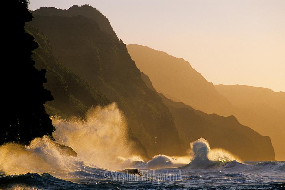 Na Pali Coast at Sunset - Kauai