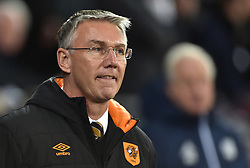 "Hull City's manager Nigel Adkins during the Sky Bet Championship match at the Cardiff City Stadium. PRESS ASSOCIATION Photo. Picture date: Saturday December 16, 2017. See PA story SOCCER Cardiff. Photo credit should read: Simon Galloway/PA Wire. RESTRICTIONS: EDITORIAL USE ONLY No use with unauthorised audio, video, data, fixture lists, club/league logos or ""live"" services. Online in-match use limited to 75 images, no video emulation. No use in betting, games or single club/league/player publications."