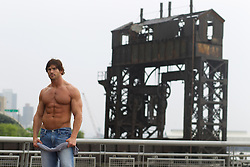 shirtless bodybuilder in New York City