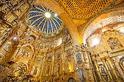 Interior of iglesia de san Francisco Quito, Ecuador, South America