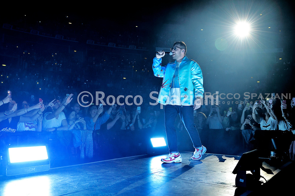Coez Performs In Concert on May 28, 2019 in Rome, Italy.