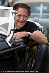 Hotrod legend Gene Winfield on setup day for TROG (The Race Of Gentlemen) in Wildwood, NJ. USA. Friday June 8, 2018. Photography ©2018 Michael Lichter.