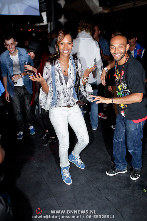 NLD/Amsterdam/20111007 - Presentatie Marc Ecko watches, Jasmine Sendar dansend