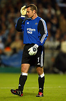 Photo: Scott Heavey, Digitalsport<br /> NORWAY ONLY<br /> .<br /> Olimpique Marseille v Newcastle United. UEFA Cup Semi Final, Second Leg. 06/05/2004.<br /> A dejected Shay Given