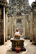 19 MARCH 2006 - SIEM REAP, SIEM REAP, CAMBODIA: A Buddha in the Bayon temple within the environs of the Angkor Wat complex.   Photo by Jack Kurtz / ZUMA Press