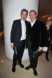 Left to right, PETER CAPALDI and RICHARD JOBSON at a Burns Night dinner in aid of cancer charity CLIC Sargent held at St.Martin's Lane Hotel, London on 25th January 2011.