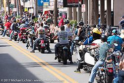 Riding Main Street during Biketoberfest. Daytona Beach, FL, USA. Saturday October 21, 2017. Photography ©2017 Michael Lichter.