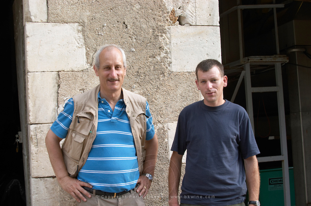 Count d'Estutt d'Assay (Henry?), of the owning family. And Laurent Pataille, winemaker. Chateau de Tracy, Pouilly sur Loire, France