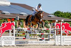 06, Springprfg. Kl. M** -Fundis-Tour-,, Ehlersdorf, Reitanlage Jörg Naeve, 15. - 18.07.2021, Andre Schulz (GER), Bedea,