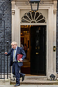 March 18, 2020, London, England, United Kingdom: Bitain's Prime Minister Boris Johnson leaves 10 Downing Street in London, to attend the weekly session of PMQs, Wednesday, March 18, 2020. (Credit Image: © Vedat Xhymshiti/ZUMA Wire)