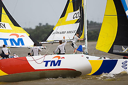 2008 Monsoon Cup. Sebastien Col and Torvar Mirsky have a major collision during the pre start  (Saturday the 6th December 2008).