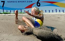 08-08-2006 ATLETIEK: EUROPEES KAMPIOENSSCHAP: GOTHENBORG <br /> Carolina Kluft (SWE) spring 6.65 meter en wordt eerste <br /> ©2006-WWW.FOTOHOOGENDOORN.NL