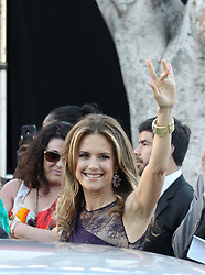 """File photo - John Travolta and wife Kelly Preston arrive at the """"Savages"""" movie premiere in Los Angeles, CAn, USA, on june 25, 2012. Kelly Preston, the actress married to John Travolta, has died after a private battle with breast cancer, aged 57. The actress had been battling against breast cancer for two years, with a family representative confirming news of her passing to People today. Photo by ABACAPRESS.COM"""