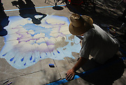 Chalk artist at Livin' La Vida Verde environmental festival in Tucson, Arizona.