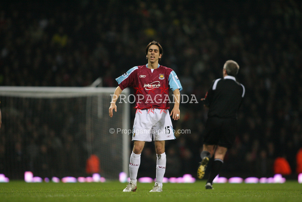 London, England - Tuesday, January 30, 2007: Liverpool against West Ham United's Yossi Benayoun during the Premiership match at Upton Park. (Pic by Chris Ratcliffe/Propaganda)