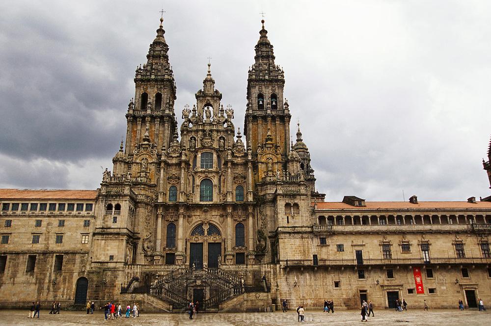 Cathedral in Santiago de Compostela, Spain.