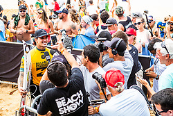 December 16, 2018 - Pupukea, Hawaii, U.S. - World Title contender Gabriel Medina (BRA) advances to Round 4 of the 2018 Billabong Pipe Masters after winning Heat 6 of Round 3. (Credit Image: © Kelly Cestari/WSL via ZUMA Wire)