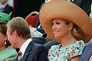Viering van 200 jaar van het Koninkrijk der Nederland in Maastricht / Celebration of 200 Years of the Kingdom of the Netherlands in Maastricht <br /> <br /> Op de foto:  Koningin Maxima /  Queen Maxima