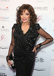 Joan Collins attending the Global Gift Gala held at The Corinthia Hotel in London.