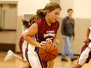 Elli Rose Focht plays basketball for her school team. Exercise is important to battle childhood obesity.