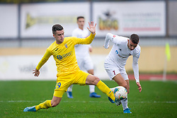 Arnel Jakupoic of Domzale and Anis Jasaragic of Trglav during football match between NK Domzale and NK Triglav in Round #18 of Prva liga Telekom Slovenije 2019/20, on November 23, 2019 in Sports park Domzale, Slovenia. Photo by Sinisa Kanizaj / Sportida