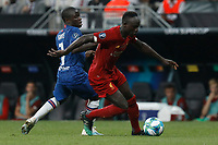 ISTANBUL, TURKEY - AUGUST 14: Sadio Mane (R) of Liverpool and N'Golo Kante of Chelsea vie for the ball during the UEFA Super Cup match between Liverpool and Chelsea at Vodafone Park on August 14, 2019 in Istanbul, Turkey. (Photo by MB Media/Getty Images)