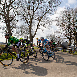 07-03-2020: Wielrennen: Ronde van Groningen: Usquert <br />peloton in Groninger landschap