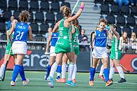 AMSTELVEEN - doelpunt, goal, Nicole Evans (Ier)  tijdens de dames -wedstrijd  ,  Ierland-Italie (3-0) bij het  EK hockey , Eurohockey 2021. COPYRIGHT KOEN SUYK