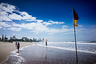 Life guard on the beach at the Gold Coast in Australia