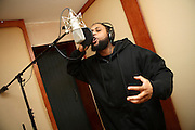 Cataclysm, 27, is recording for Blind Alphabetz's new album in a studio in Angel, London, England, on Monday, Feb. 12, 2007. Islamic Hip Hop artists like the duo 'Blind Alphabetz', from London, feel more than ever the need to say what they think aloud. In the music industry the backlash of a disputable Western foreign policy towards Islamic countries and its people is strong. The number of artists in the European Union and the US taking this into consideration and addressing the current social and political problems within their lyrics is growing rapidly and fostering awareness for Muslim and others alike.