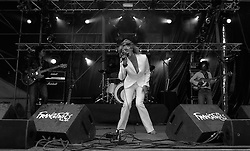 SPA, BELGIUM - JULY-23-2006 -  The Hush live at the Francofolies music festival. (PHOTO © JOCK FISTICK).